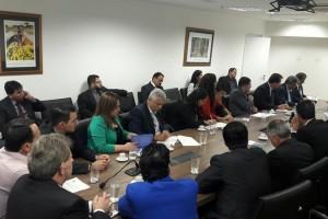 Foto: Divulgação Prefeito Mário Valério, ao lado de outros prefeitos, durante reunião na terça-feira, em Brasília